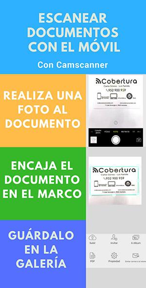 escanear documentos con el móvil, infografía